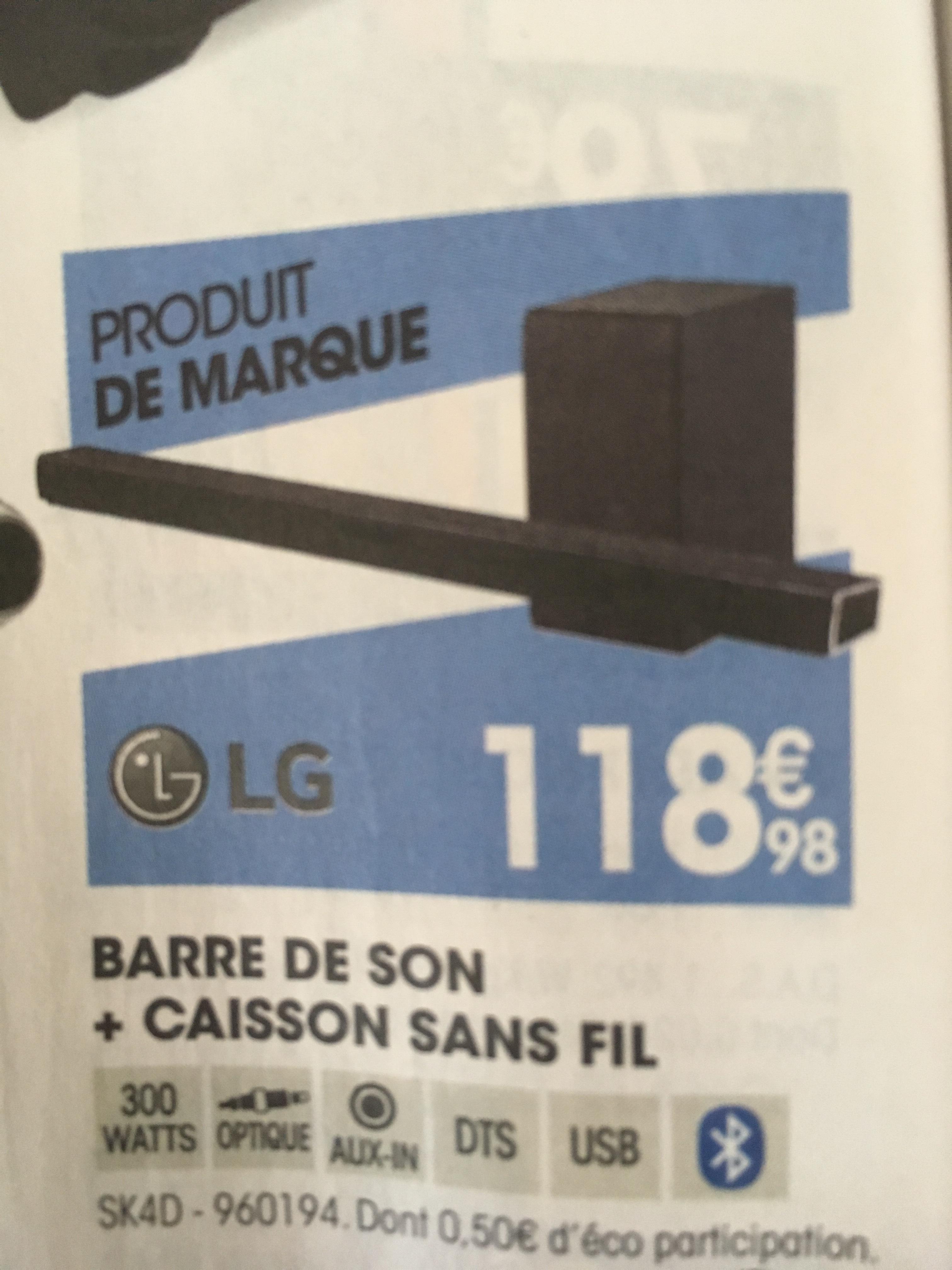 Barre de son + Caisson sans Fil LG LGSK4D (300W) - Avrillé (49)