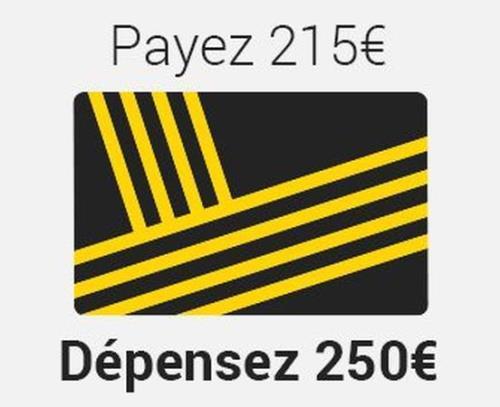 [Adhérents] Bon d'achat de 60€ pour 50€, 150€ pour 130€ et 250€