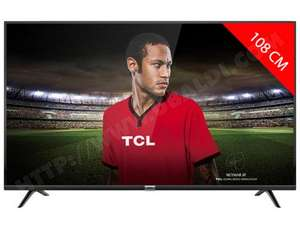 "TV LED 43"" TCL 43DP600 - 4K UHD, Smart TV (Via ODR de 50€)"