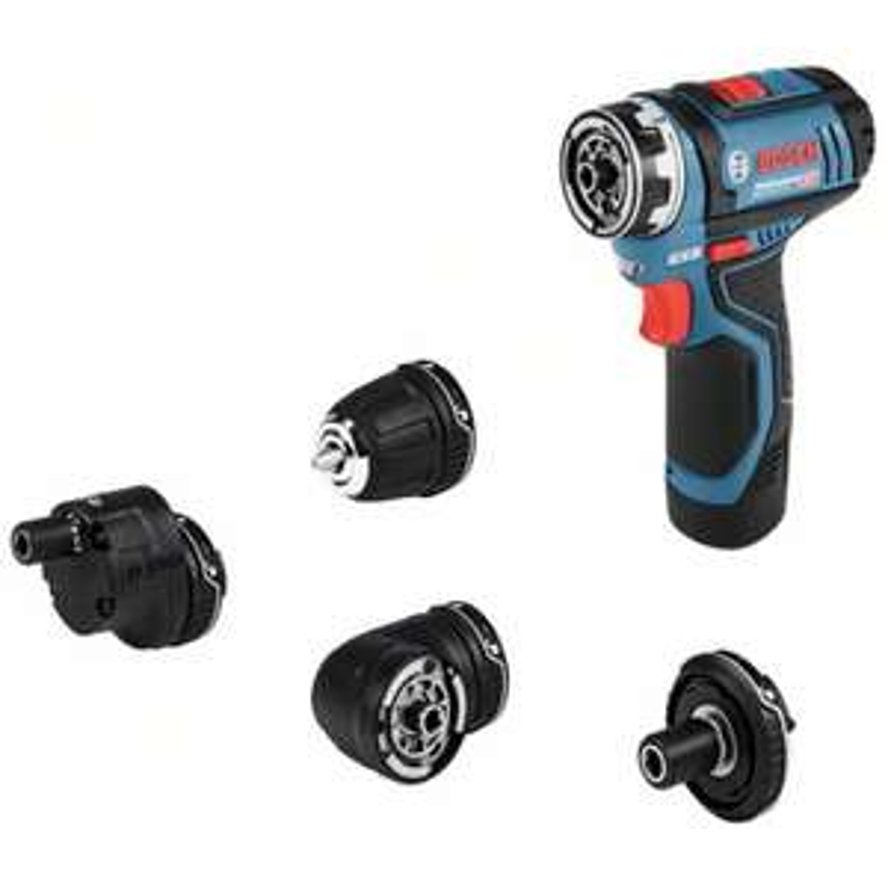 Perceuse Visseuse sans-fil Bosch Professional GSR 12V-35 FC - Brushless, 2 batteries 3.0Ah, 4 embouts porte-outil, Coffret L-BOXX (svh24.de)