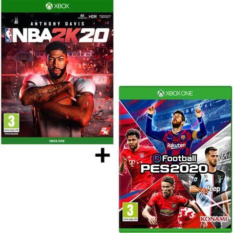 Pack Jeu NBA 2K20 + eFootball PES 2020 sur Xbox One et PS4