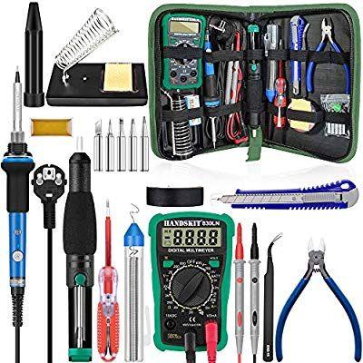 Kit fer à souder HandsKit 60W + Multimètre - 5 Pièces (Vendeur tiers)