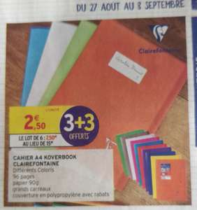 6 Cahiers A4 Koverbook Clairefontaine