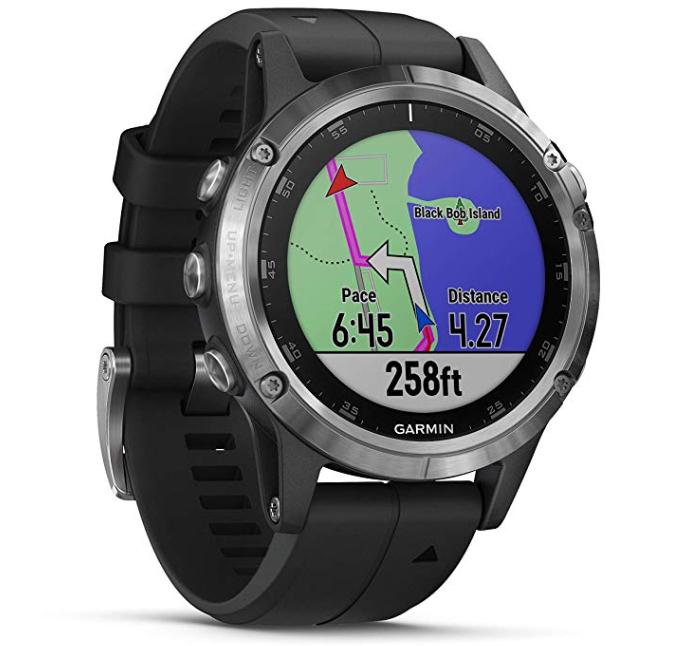 Montre connectée GPS Garmin Fenix 5 PLUS Silver cardio Multisports - Argent