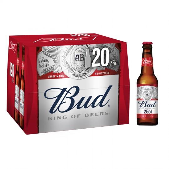Lot de 2 Packs de bière Bud - 20 x 25 cl