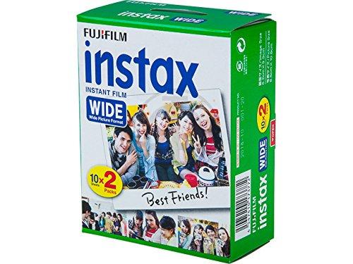 2 x Lot de 20 Films pour appareil photo Fujifilm Instax Wide 300