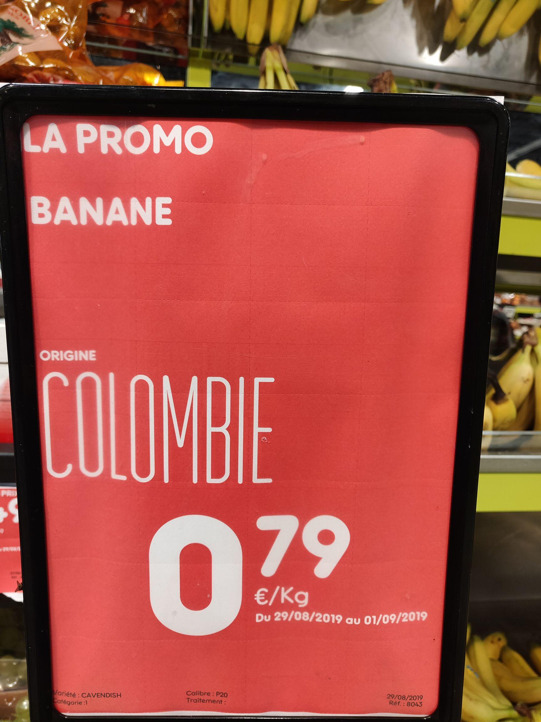 Bananes (origine Colombie, le kg) - Marché Frais Leader Price Marseille (13)