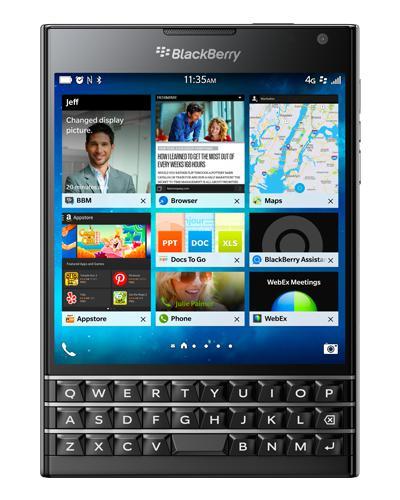 Jusqu'à 15% de remise sur un BlackBerry - ex: Blackberry Passport - Noir