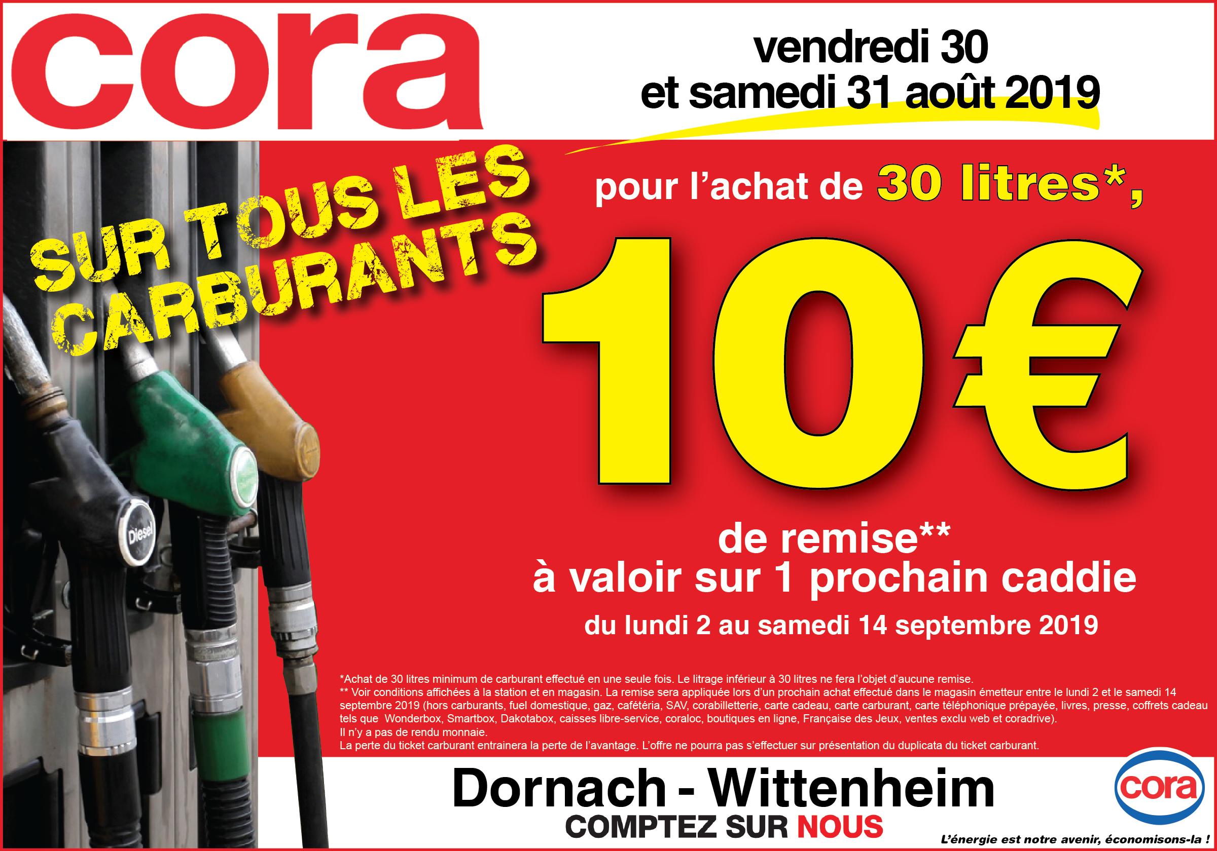 10€ offert en bon d'achat dès 30 L de carburant acheté minimum - Mulhouse / Wittenheim (68)