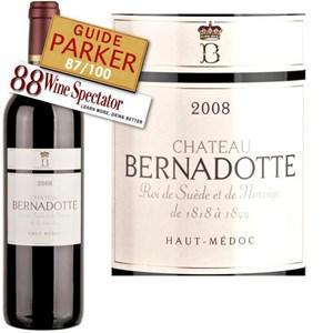 Bouteille de vin rouge Château Bernadotte Haut Médoc 2008 - 75cl