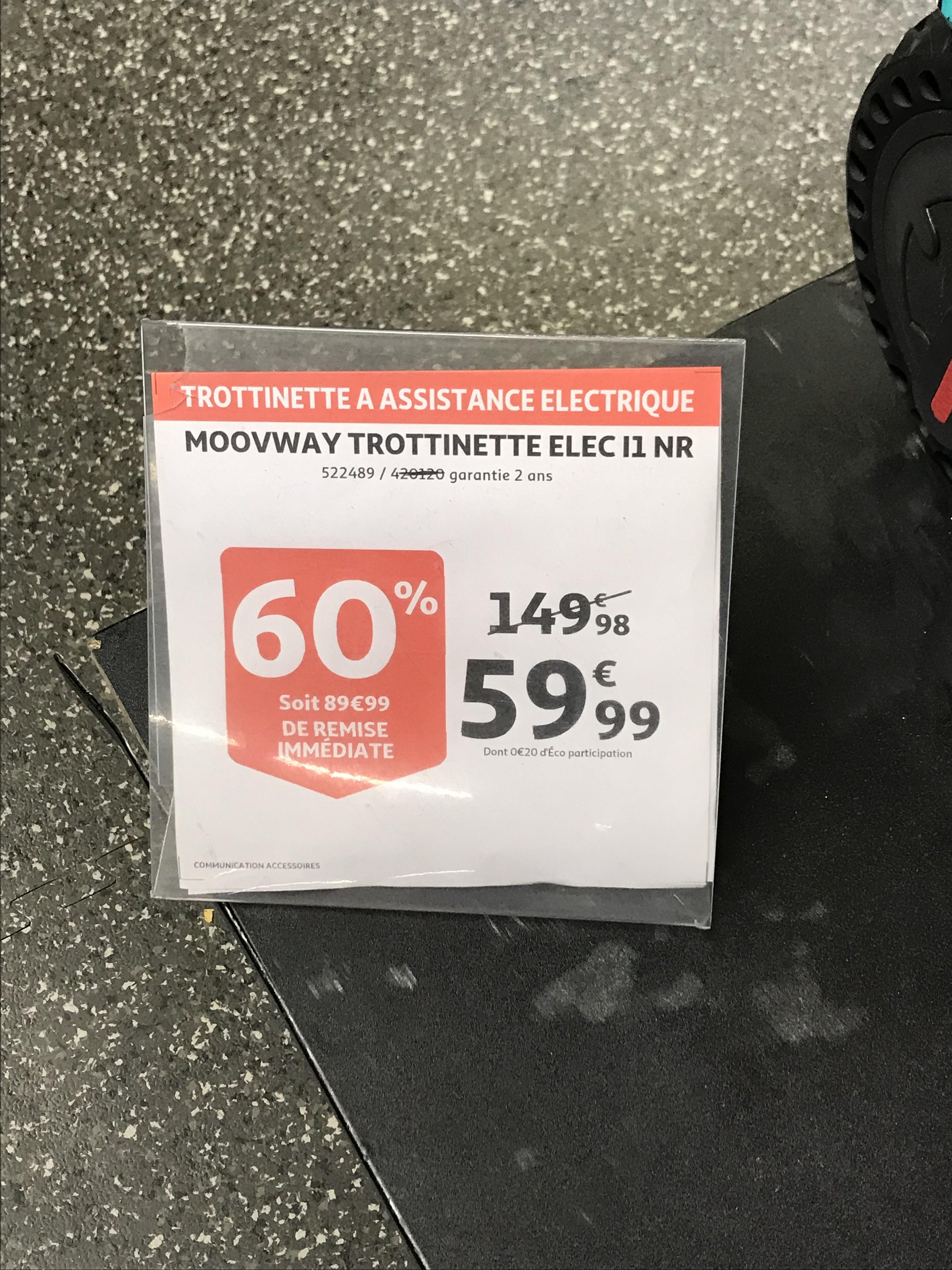 Trottinette électrique Moovway i1 Noir - Puteaux (92)