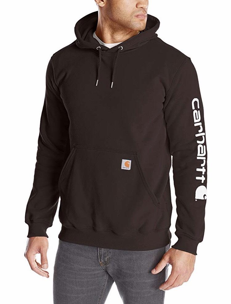 Sweat à capuche Carhartt Signature Logo pour Homme - Marron (Vendeur tiers)