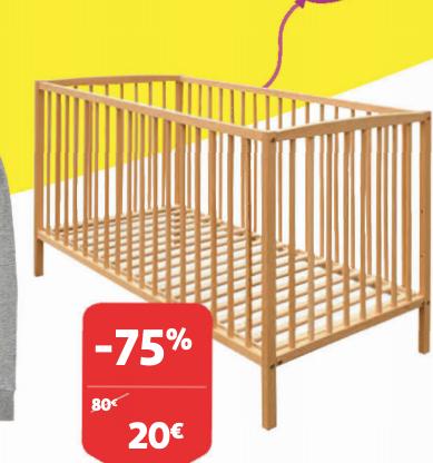 Lit bébé à barreaux 60 x 120 cm (Frontaliers Luxembourg)