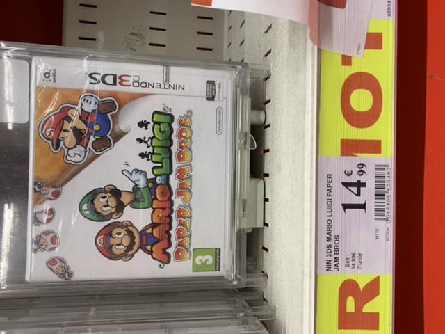 Mario & Luigi Paper Jam Bros sur Nintendo 3DS - Auchan Porte des Alpes (69)