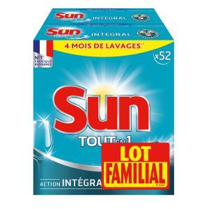 Lot de 2 boites de tablettes lave-vaisselle Sun Tout en 1 (Via 12,53 € sur la carte + BDR)