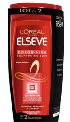 Lot de 2 Shampoings Elseve l'Oréal Color-Vive - 2x500ml  (Via 3,36€ sur la carte de fidélité)