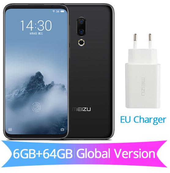 """Smartphone 6"""" Meizu 16th - 2160 x 1080, Snapdragon 845, RAM 6Go, 64Go, 4G (B20)"""