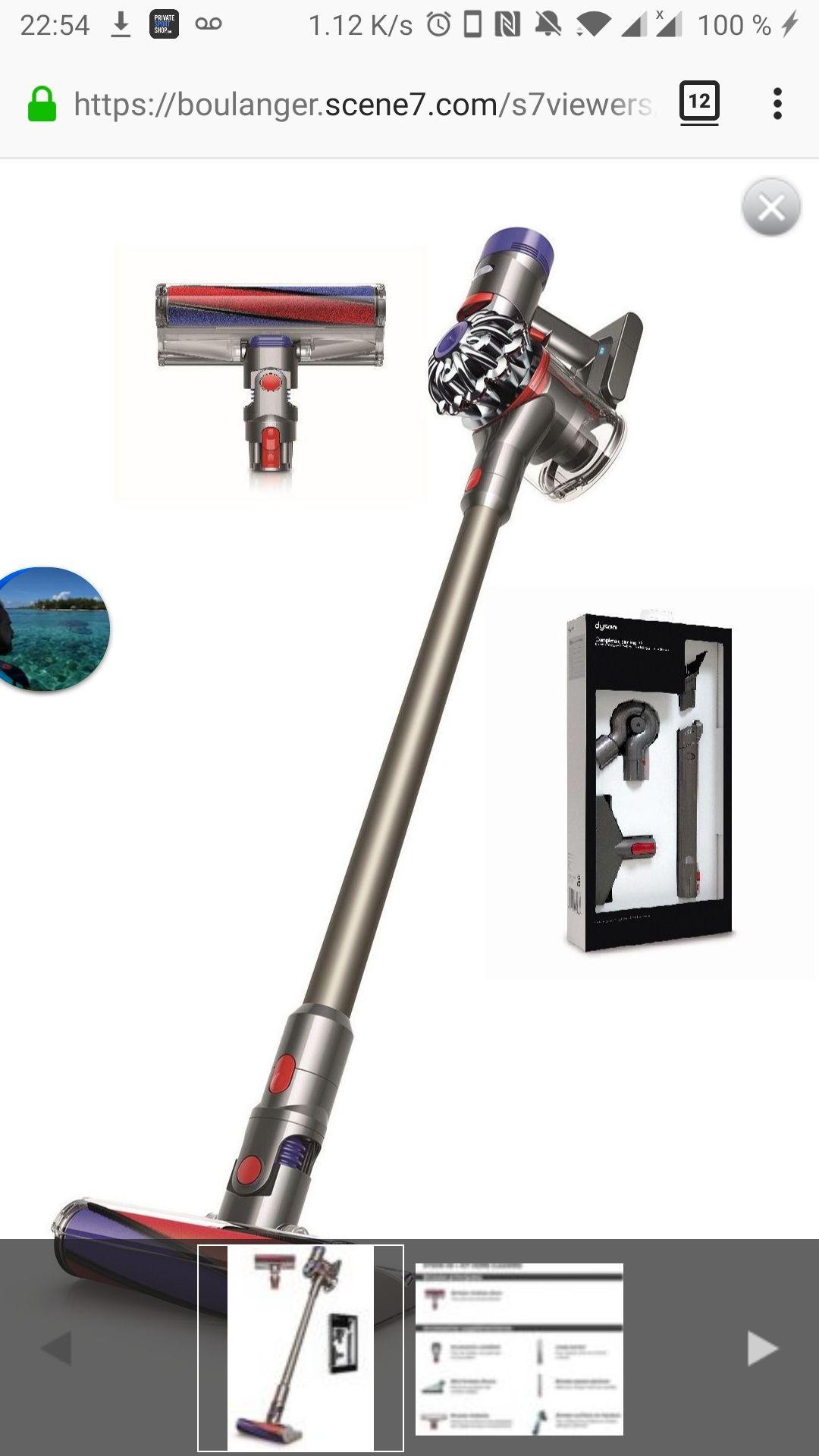Aspirateur balai Dyson V8 + Kit Home cleaning (vendeur tiers)