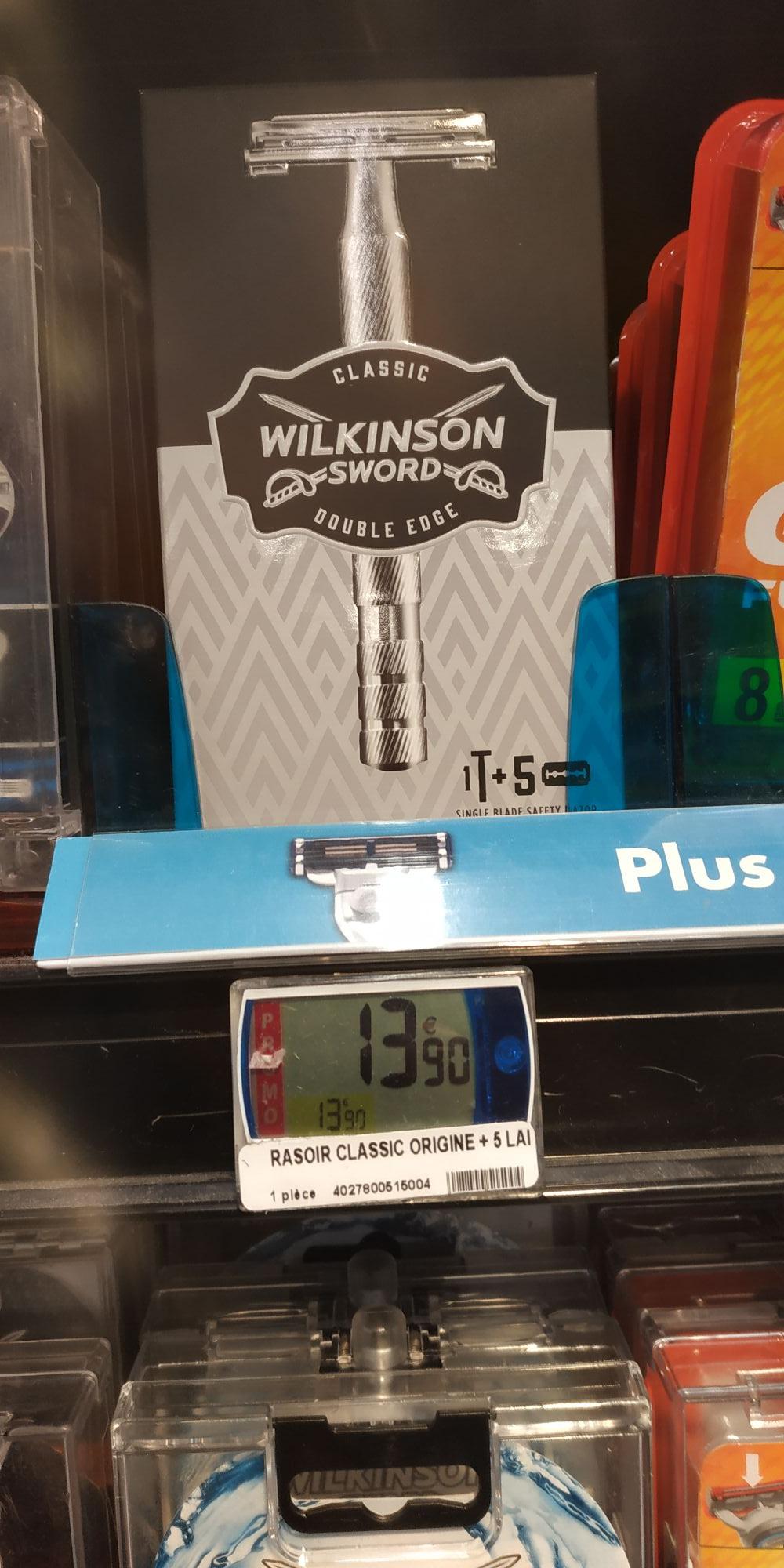 Rasoir de sûreté Wilkinson Classic double egde + 5 lames - Ollioules (83)