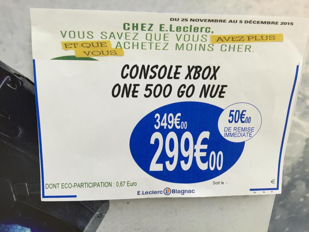 Console One 500 Go (avec 58€ en bons d'achat)