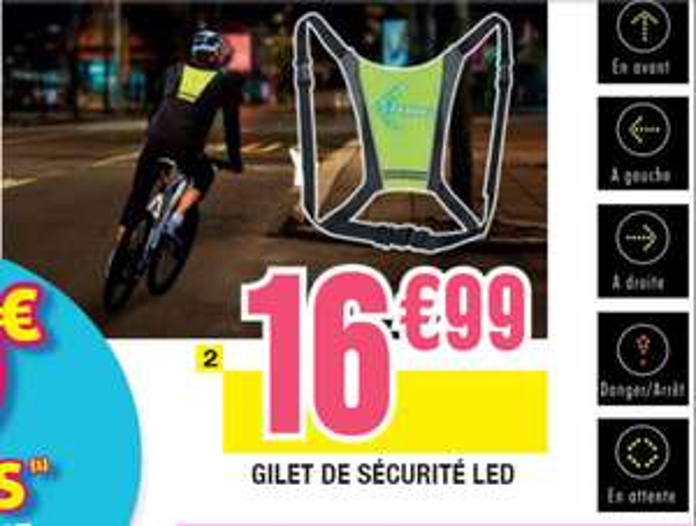 Gilet de sécurité LED pour vélo
