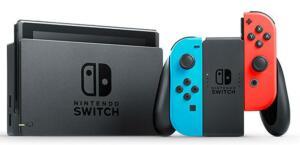 Console Nintendo Switch avec Paire de Joy-Con Rouge Fluorescent & Bleu Néon Inclus