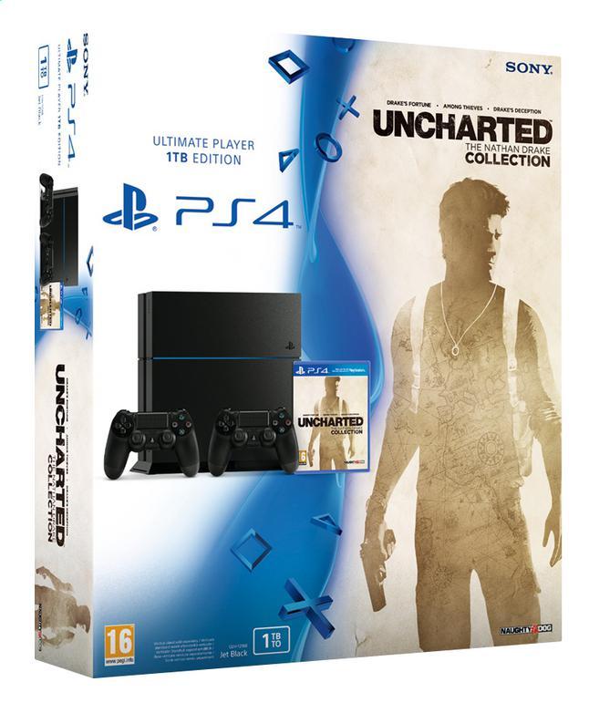 Playstation 4 1To Noire ( cuh-1216b ) + Uncharted Collection + 2ème manette + bon d'achat de 15€