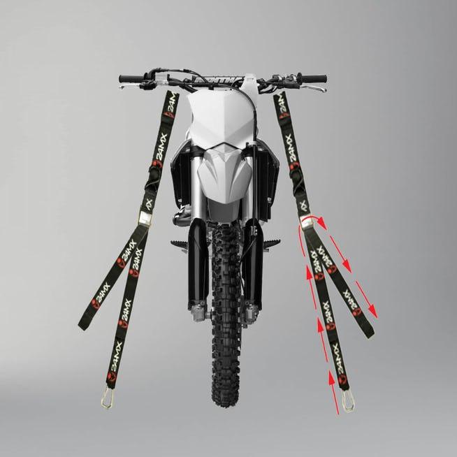 Lot de 2 sangles guidon pour moto 24MX