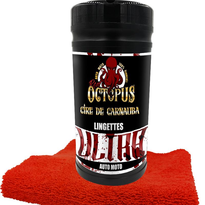 Paquet de lingettes nettoyantes pour moto Red Octopus Ultra (80 lingettes) - RedOctopus.fr