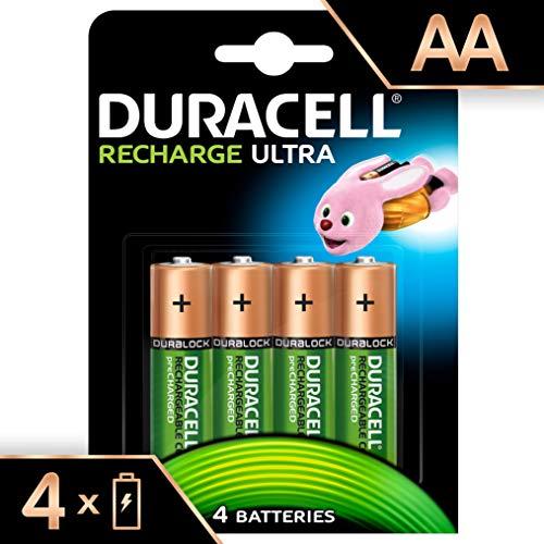 Lot de 4 piles rechargeables AA Duracell Recharge Ultra - 2500 mAh
