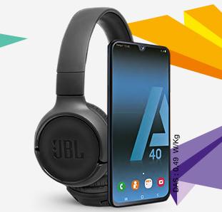 [Nouveaux clients] Forfait 50Go à 19.99€/mois pendant 12 mois puis 34.99€ - Engagement 24 mois + Samsung Galaxy A40 + Casque JBL (via ODR)