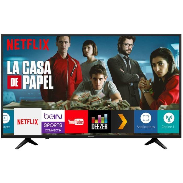 "TV 58"" Hisense H58A6050 - LED, 4K UHD, HDR 10, Dolby Digital +, Smart TV (+ 25€ offerts en bon d'achat)"