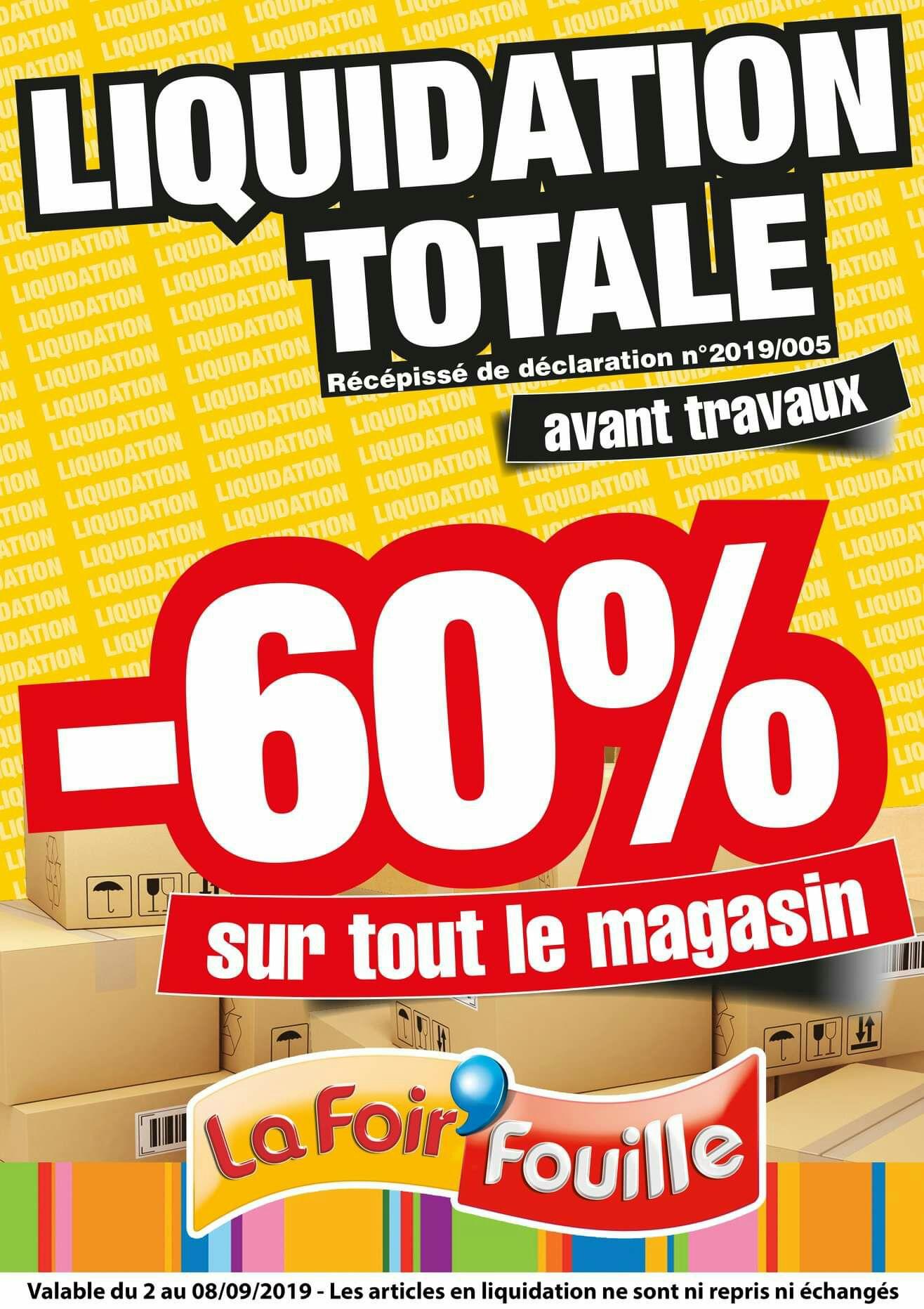 60% de réduction sur tout le magasin - Champniers (16)