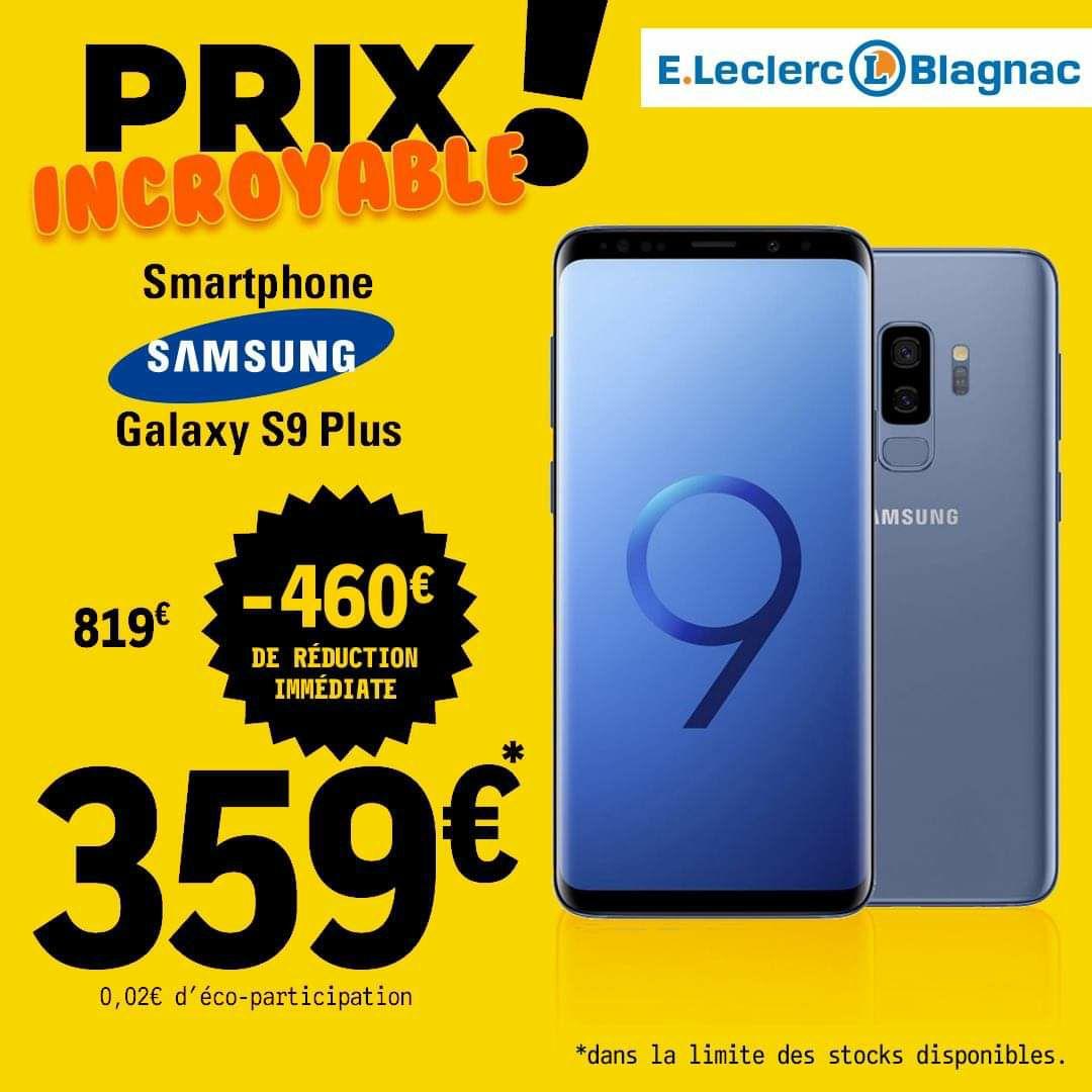 """Smartphone 6.2"""" Samsung Galaxy S9+ Plus - 64Go, 6Go RAM (Blagnac 31)"""