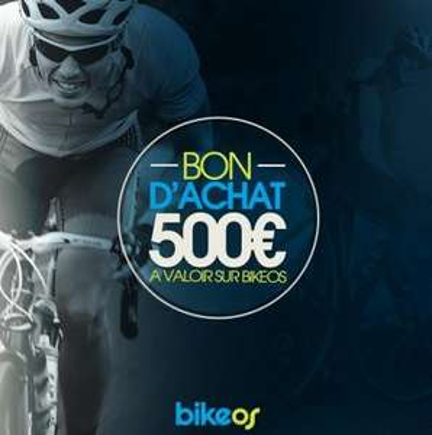 Bon d'achat de 500€ à dépenser sur Bikeonlinestore.fr