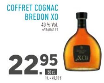 Bouteille de Cognac Bredon XO - 50cl, 40%