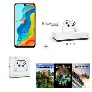 Smartphone Huawei P30 Lite - 128 Go + Xbox One S All Digital 1 To + 3 Jeux (Minecraft, Sea of Thieves et Forza Horizon 3) + 2ème Manette