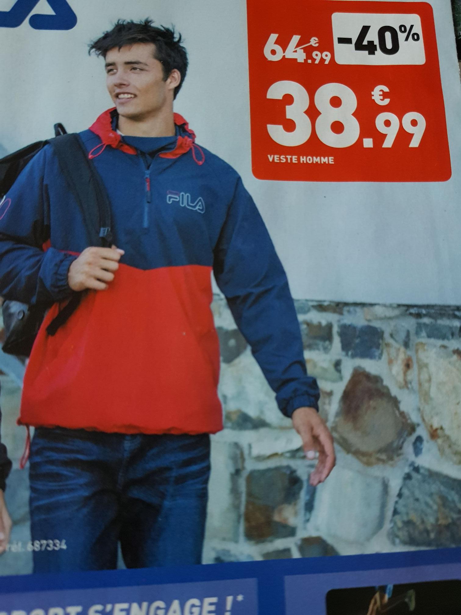 Sélection de produits en promotion - Ex : veste Fila (du XS au XL) - différents magasins