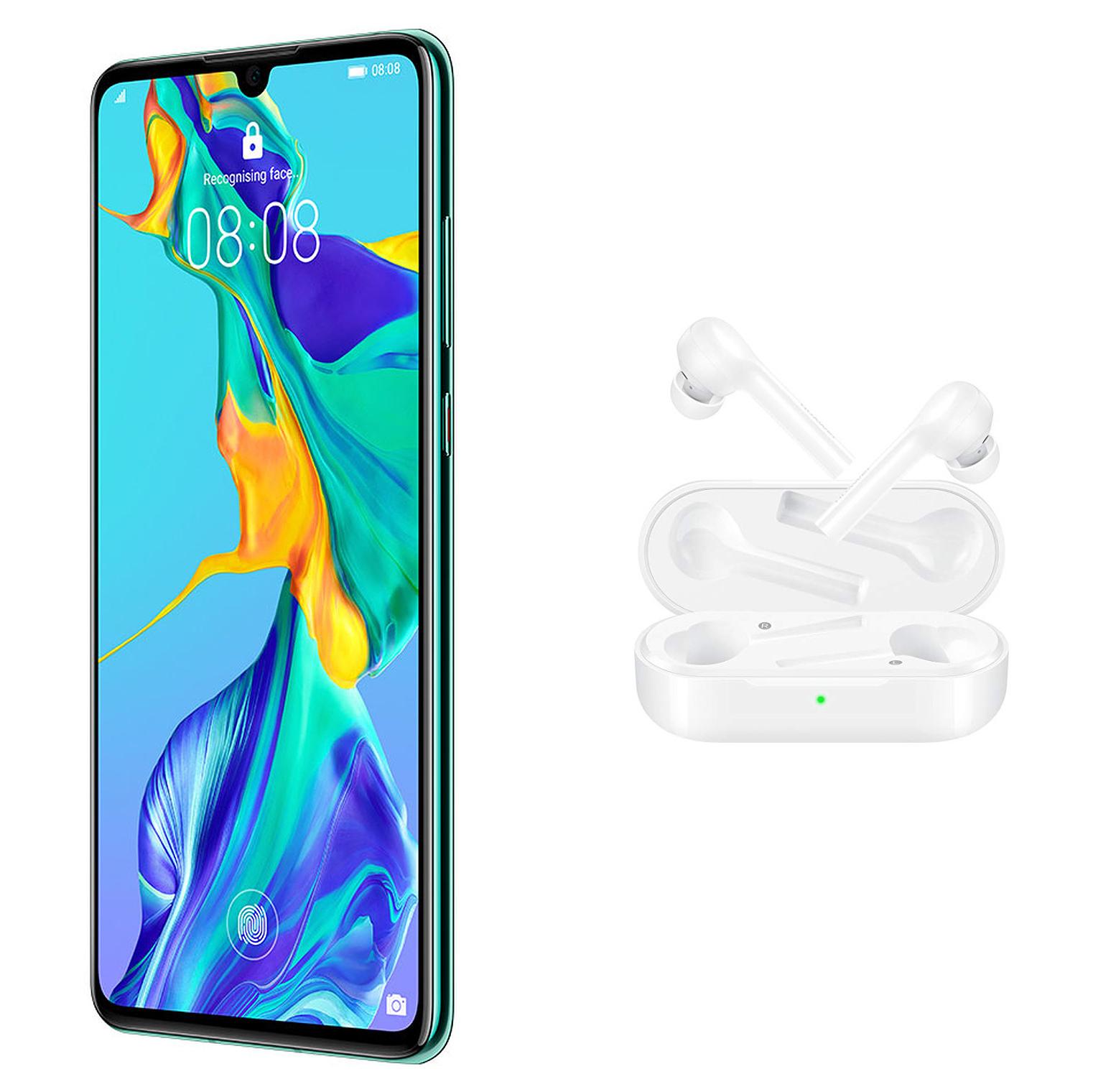 "Smartphone 6.1"" Huawei P30 - FHD+, Kirin 980, RAM 6 Go, 128 Go + FreeBuds Lite (via formulaire) + 124.75€ en SuperPoints (Boulanger)"