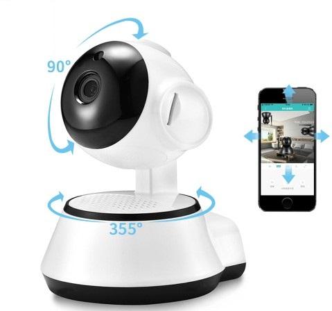 Caméra de surveillance intérieure Xiaovv Q6S Smart 360, 720P, vision nocturne, vision 355°