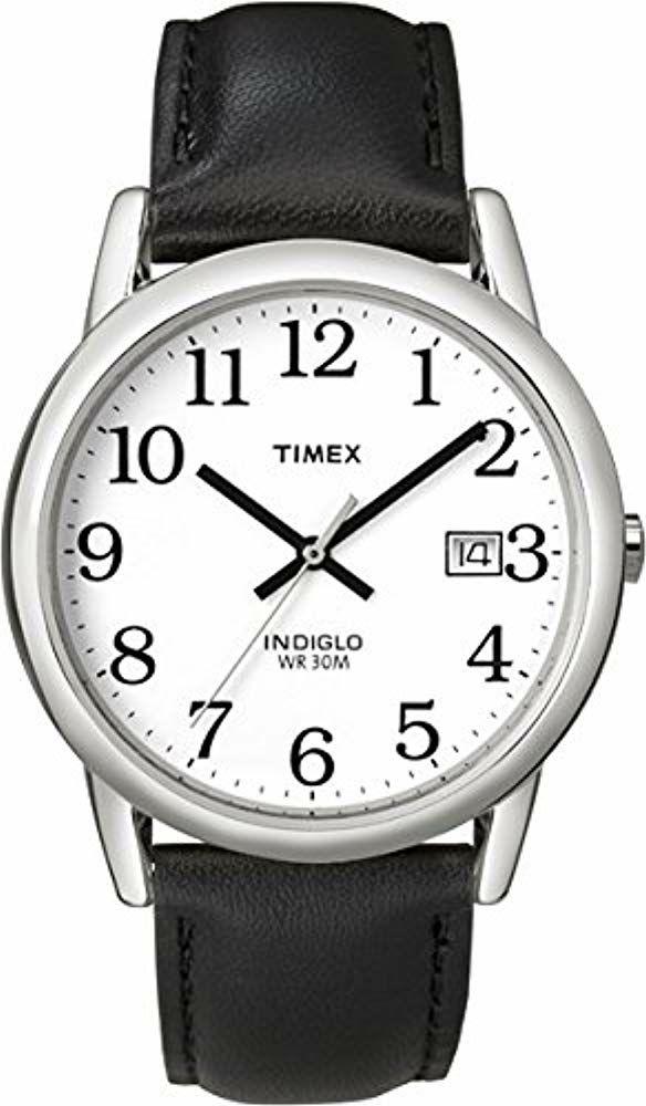 Montre Analogique Quartz Timex T2H281 - 33 mm, 3 ATM, Bracelet en cuir noir