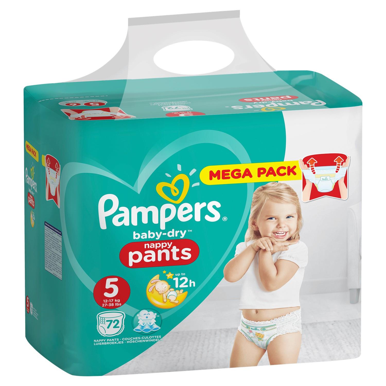 Méga-pack de couches-culottes Pampers Baby-Dry Pants (via 70% sur la carte + BDR) - Ex : Taille 3, 92 couches