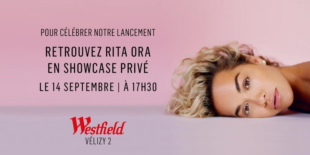 Concert gratuit de Rita Ora au Westfield Vélizy 2 (78)