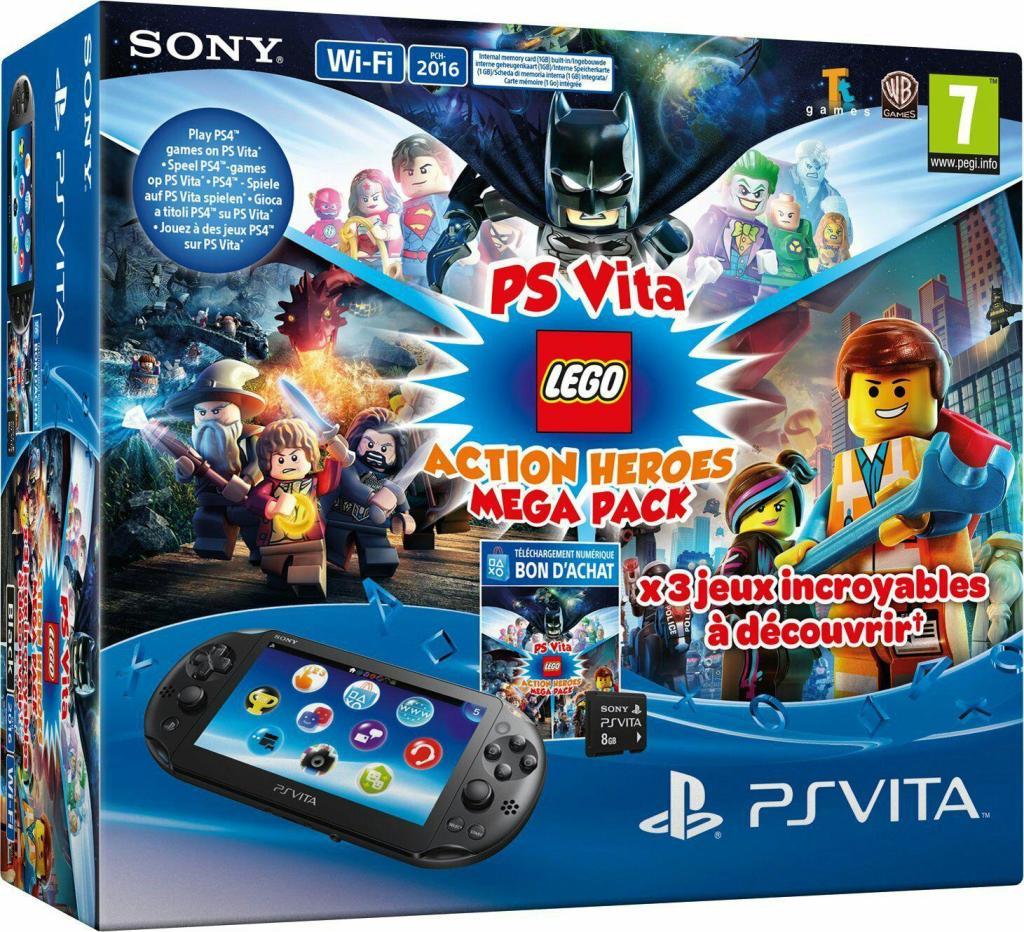 Console Sony Playstation Vita + Lego Mega Pack + Carte Mémoire 8 Go pour PS Vita