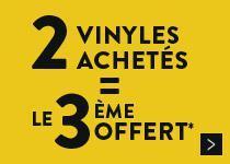 2 Vinyles achetés = le 3eme offert
