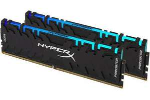 Kit Mémoire RAM DDR4 Kingston HyperX - 16 Go (2 x 8), 3200Hz, RGB