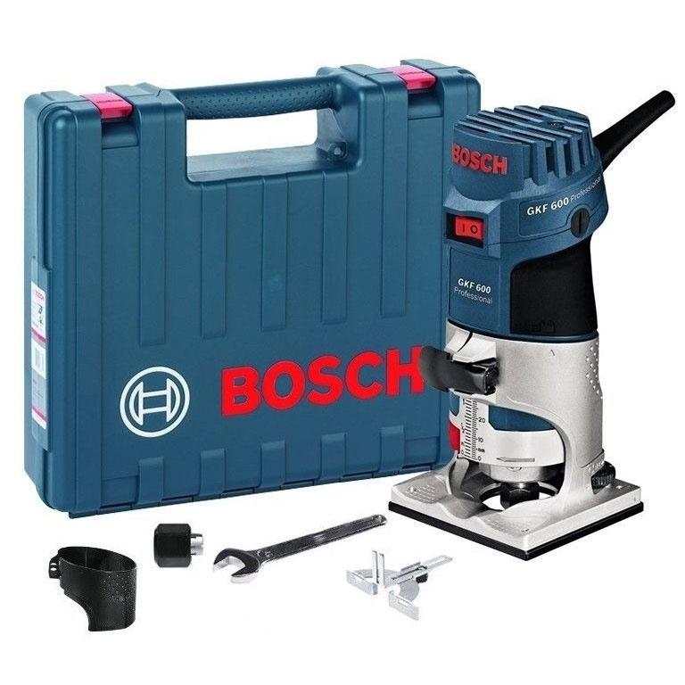 Affleureuse filaire Bosch Professional GKF 600 - 220V, 600W, accessoires, mallette
