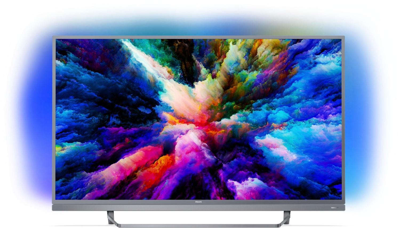 "TV 49"" Philips 49PUS7503 (2018) - 4K UHD, LED, Smart TV, Ambilight 3 côtés"