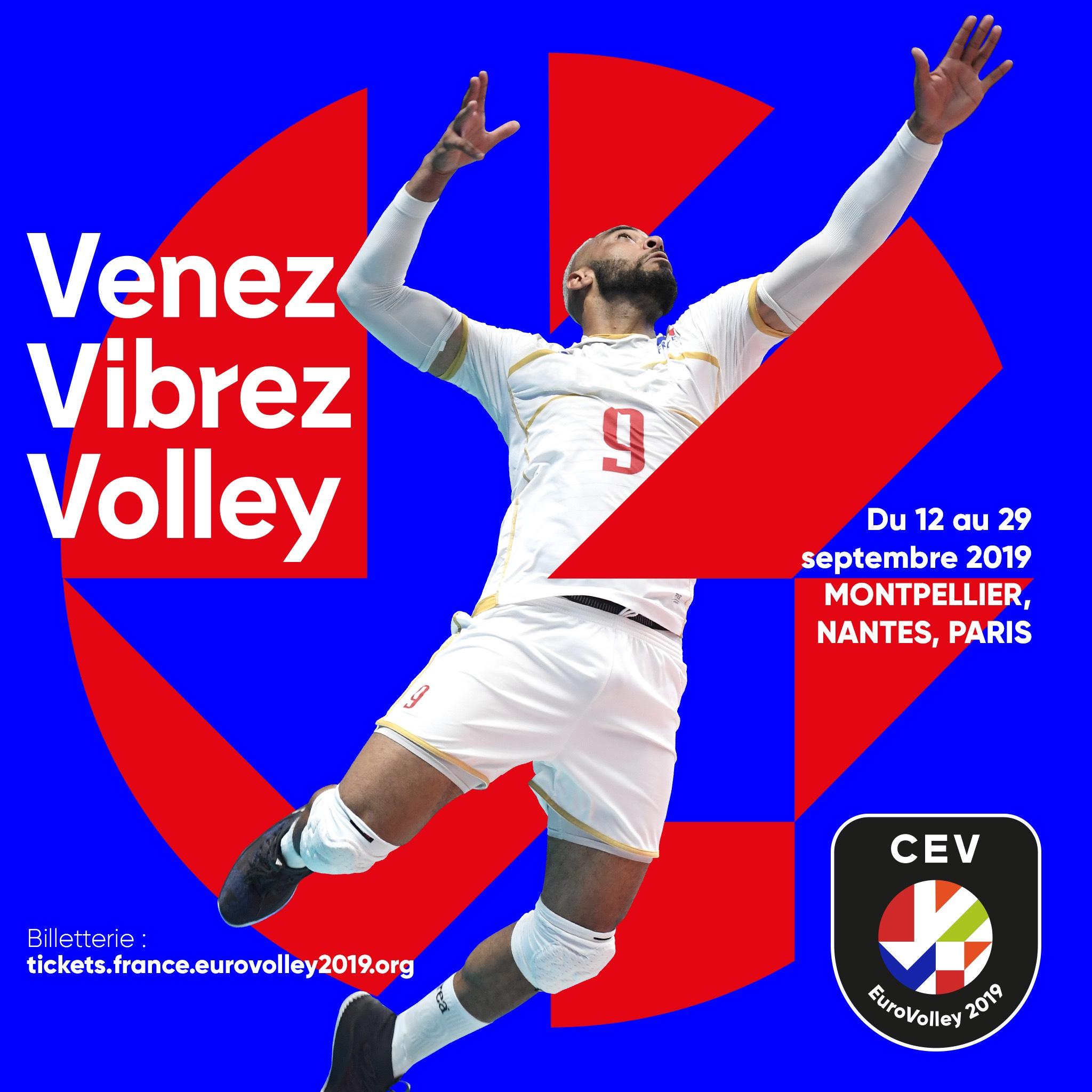 Billet pour le match de l'EuroVolley France - Roumanie le 12 septembre à la Sud de France Arena, Montpellier (34)