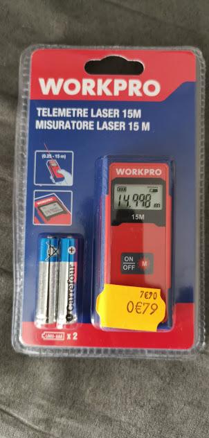 Télémétré laser WorkPro (0,25/15m) - Avignon (84)